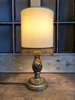 Vintage messing tafellampje