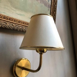 Vintage gouden wandlamp