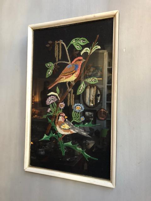 vintage schilderij met vogels