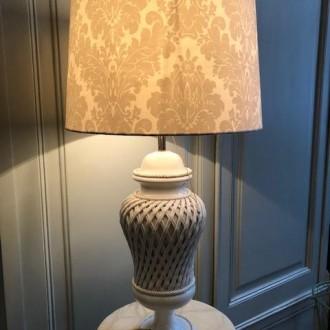 Grote luxe tafellamp keramiek