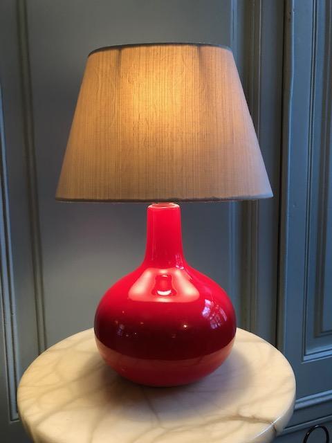 vintage tafellampje rood