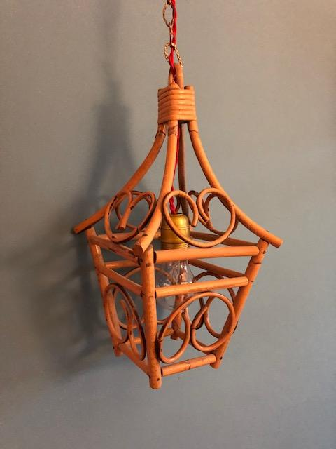 vintage faux bamboe lantaarn