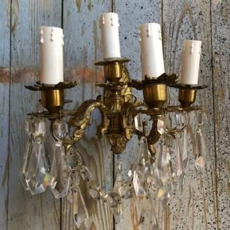Franse wandlamp met 5 armen