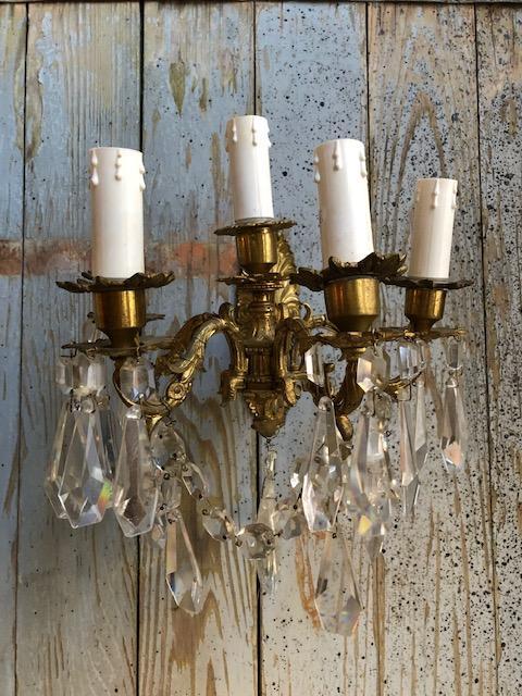 Barokke wandlamp met 5 armen