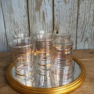 6 Vintage likeur glaasjes