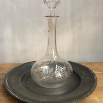 Antieke glazen karafjes