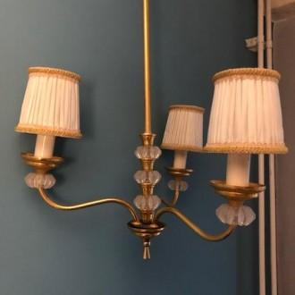 Vintage kroonluchter en 2 wandlampjes