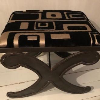 Pianokruk met stof van Designers Guild