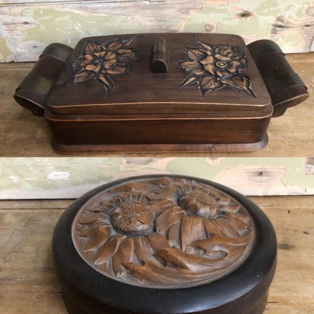 Decoratieve houten doos