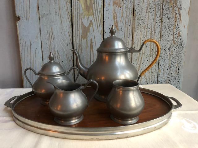 Vintage tinnen theeset