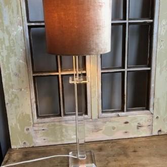 Retro hoge plexiglas tafellamp