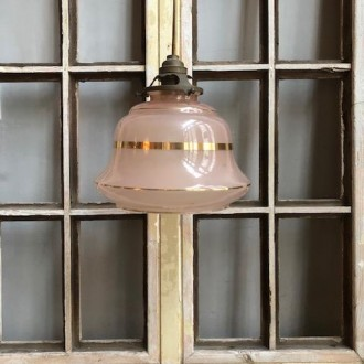 Art deco hanglampje zalm