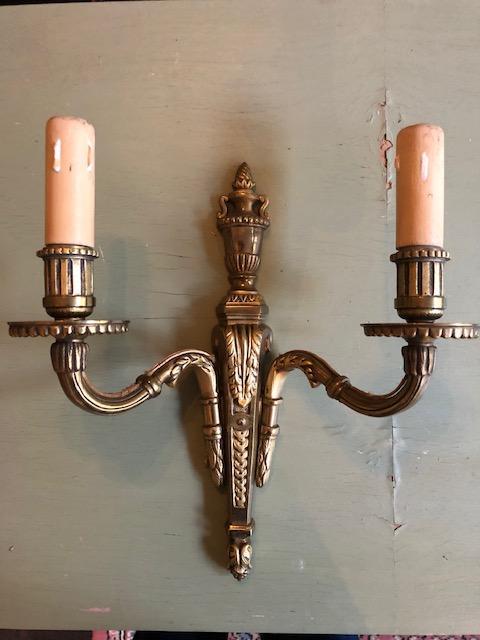 Klassieke messing wandlamp