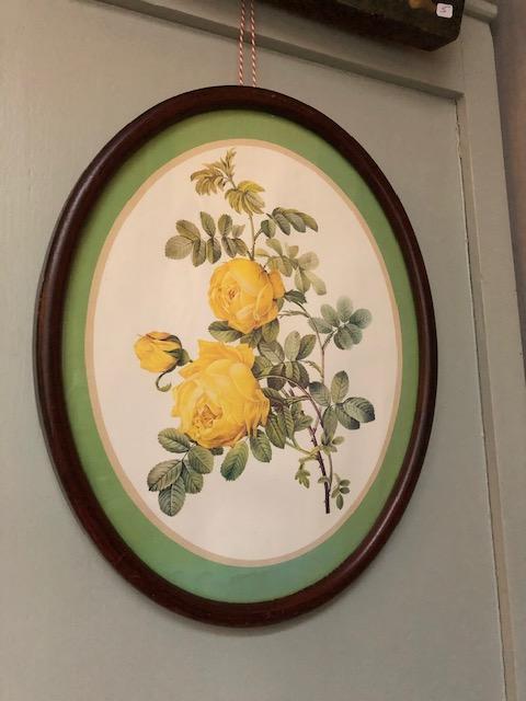 Vintage rozen schilderijtje