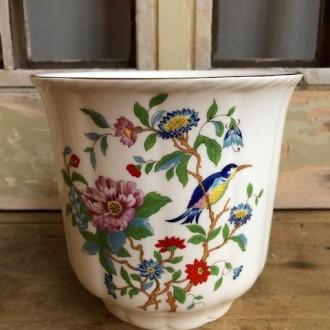 Vintage bloempot porselein (Aynsley Pembroke Bone)