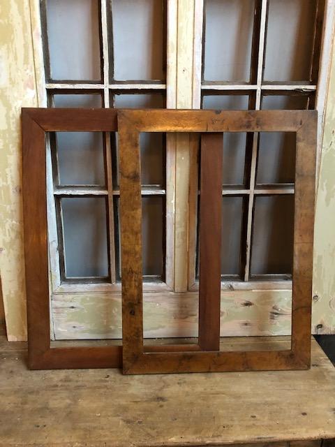 set oude houten lijsten