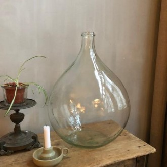 Vintage transparante gistfles 20 liter