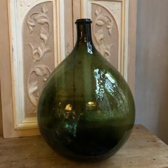 Grote bolle groene vintage gistfles van 20 liter