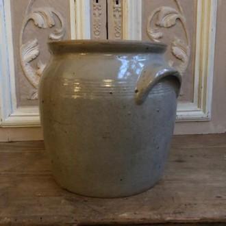 Oude Franse gres pot (21 cm hoog)