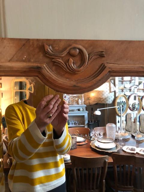 Brocante kast deur spiegel