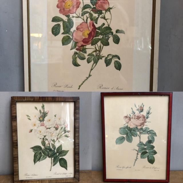 vintage rozenschilderijtes