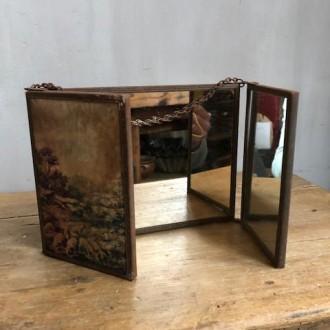 Antieke Franse kappersspiegel drieluik