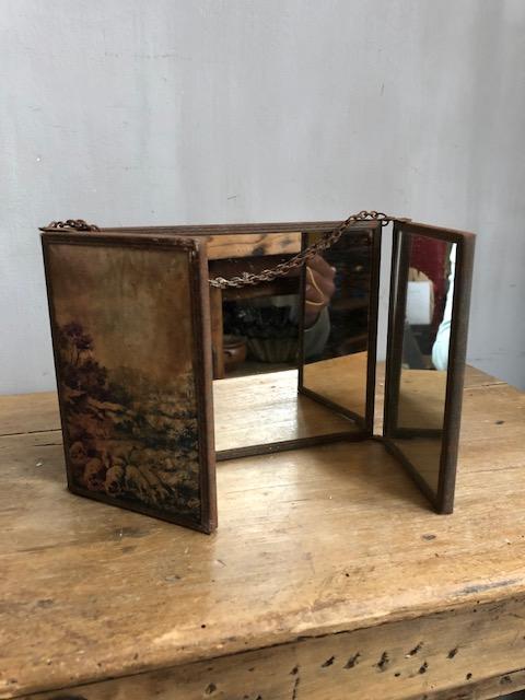 vintage kappersspiegel