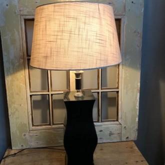 Grote stoere metalen lamp
