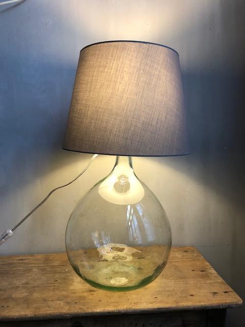 Gistfles lamp