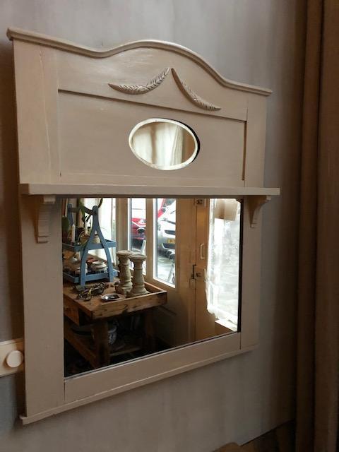 Antieke houten spiegel