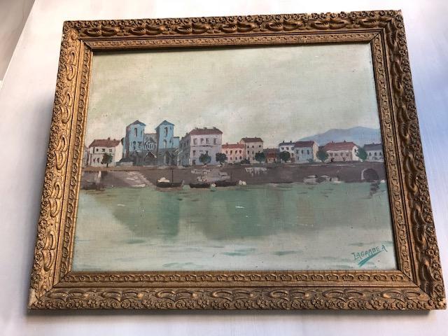 Oud Frans olieverf schilderij