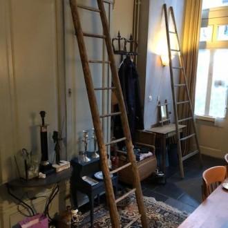 Oude Franse houten ladder
