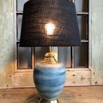 Messing en keramiek tafellamp