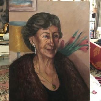 Olieverf portret van Olga