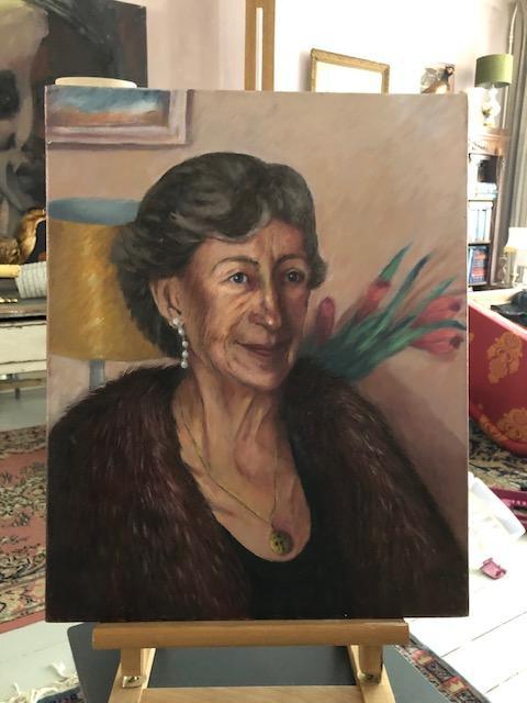 olieverf portret Olga