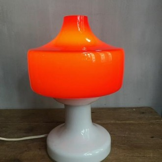 Retro tafellamp glas Dutch Design jaren 70