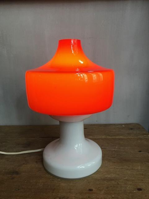Vintage paddenstoelen lamp van glas
