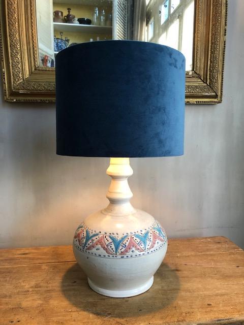 vintage keramieke franse vaaslamp