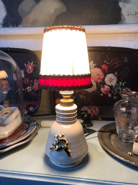 Vintage tafellampke bambie