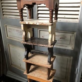 Oude Franse houten opstapjes