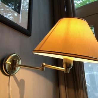 Set vintage messing wandlampjes