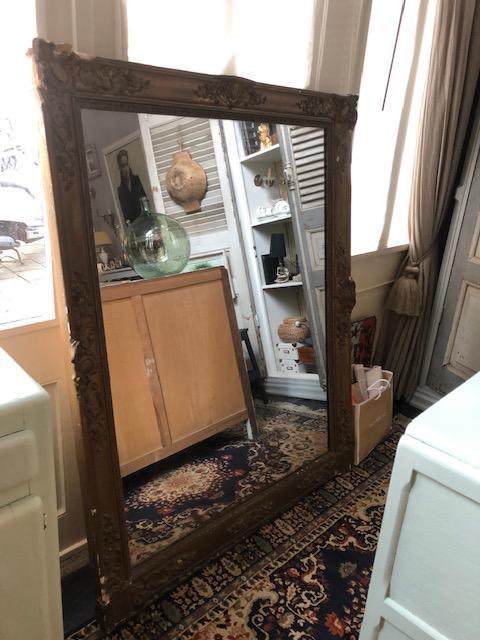grote antieke franse schouw spiegel