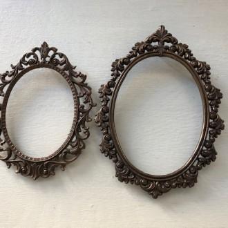 Italiaanse barokke metalen ovale lijstjes