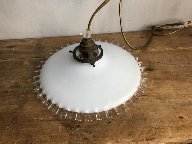 Brocante opaline hanglamp