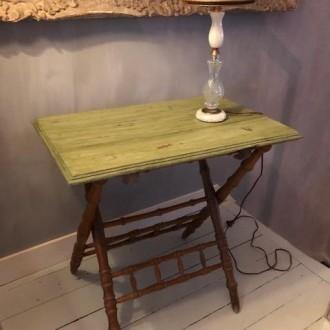 Vintage faux bamboe opklapbaar tafeltje