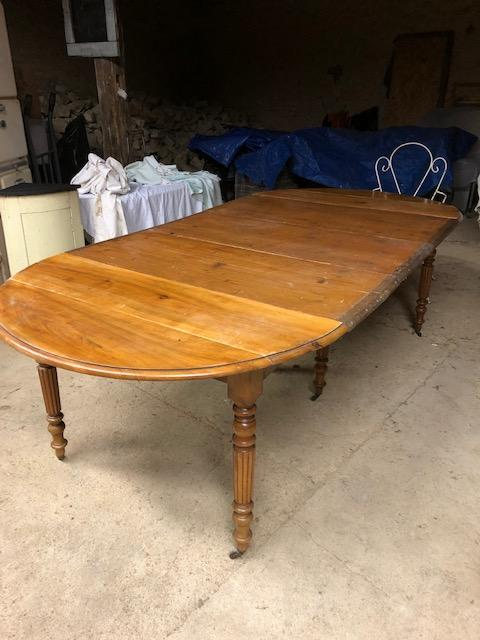 Antieke Franse uitschuifbare hangoor tafel