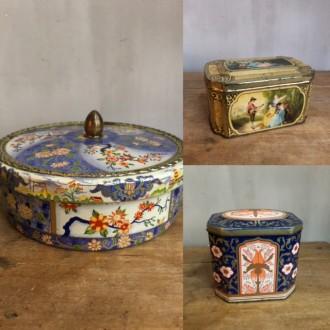 Decoratieve oude blikjes