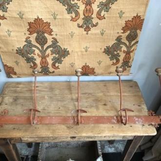 Stoere oude Franse kapstok (91 cm breed)