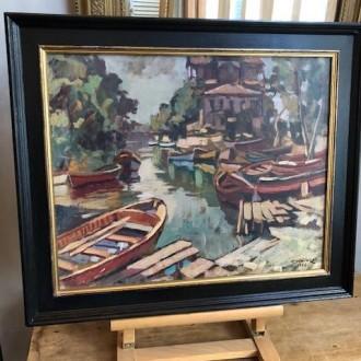 Decoratief schilderij (55 x 47 cm)