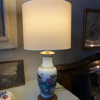 Chinees keramiek vaaslampje met vogels